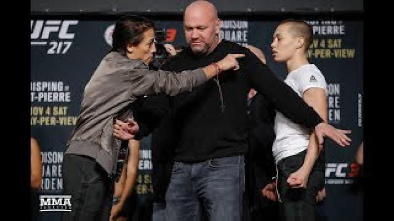 UFC 217 Joanna Jedrzejczyk vs Rose Namajunas Staredown MMA Fighting