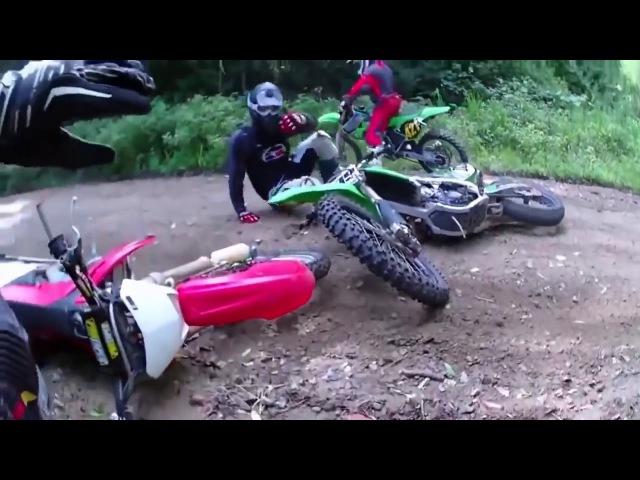 Неудачные прыжки и падения на мотоцикле GoPro 2018 Мотокросс.