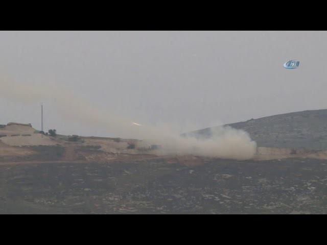 Afrin'deki Terör Unsurları Roketatarlarla Vuruluyor