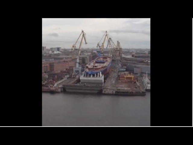 В Петербурге спустили на воду мощнейший в мире атомный ледокол