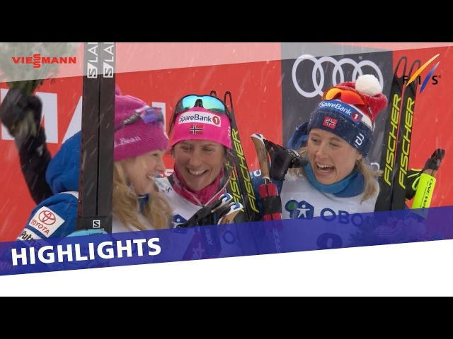 Marit Bjoergen comes from behind to take historic victory in Oslo Holmenkollen 30 km Highlights