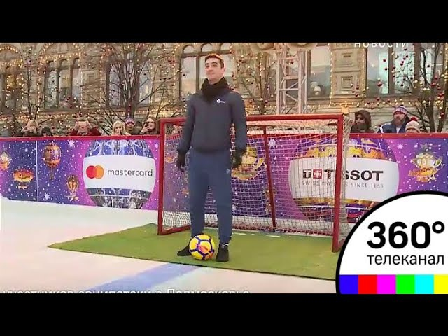 Фигуристы России и Испании доказали, что футбол на коньках возможен