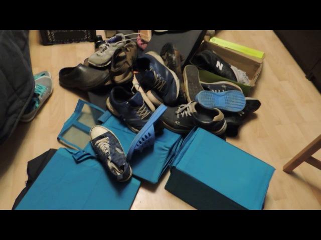 Мотивашка:разбираем шкаф с обувью и верхней одеждой/Система КОНМАРИ в действии.