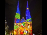 Christmas Lights Sydney Australia 2017 - St Marys Cathedral