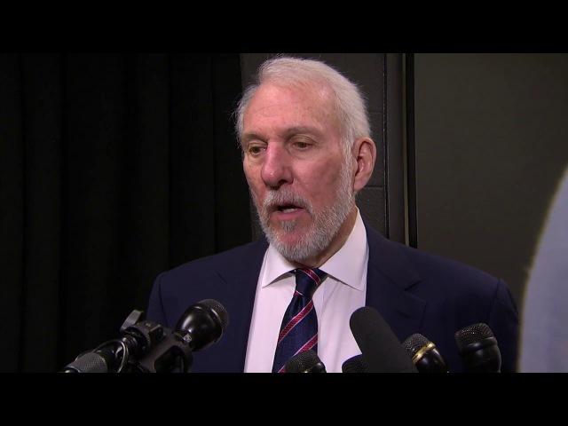 Gregg Popovich Postgame Interview Nuggets vs Spurs January 13 2018 2017 18 NBA Season