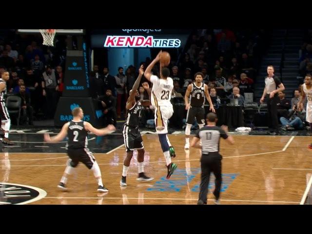 Anthony Davis Hits a Deep Buzzer-Beater | Pelicans vs Nets | February 10, 2018 | 2017-18 NBA Season