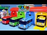 Синий автобус Тайо и его друзья играют в гараже. Ловим автобусы разных цветов. Детская игра.