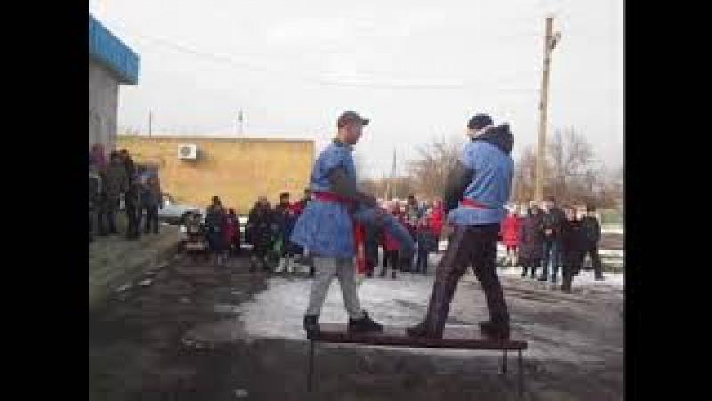 Клуб села Бирюки. Масленичные народные гуляния