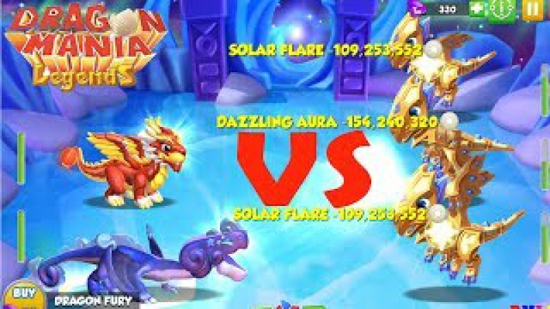 Wow! , Very strong Attack the Dragon Heroic lv 70 vs 79 , Dragon Mania Legends - part 635