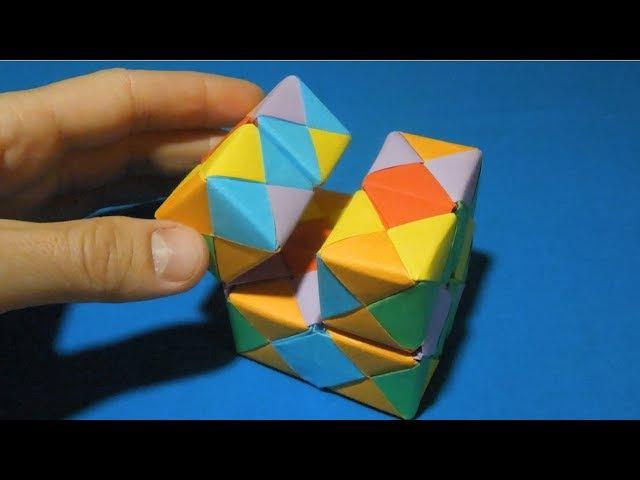 Как сделать куб бесконечности из бумаги. Оригами игрушка куб инфинити. cube infiniti