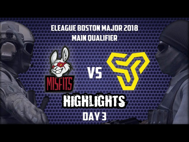 Misfits vs Space Soldiers @ de_train🗡 HIGHLIGHTS 🗡 Boston Major 2018 Main Qualifier Day 3