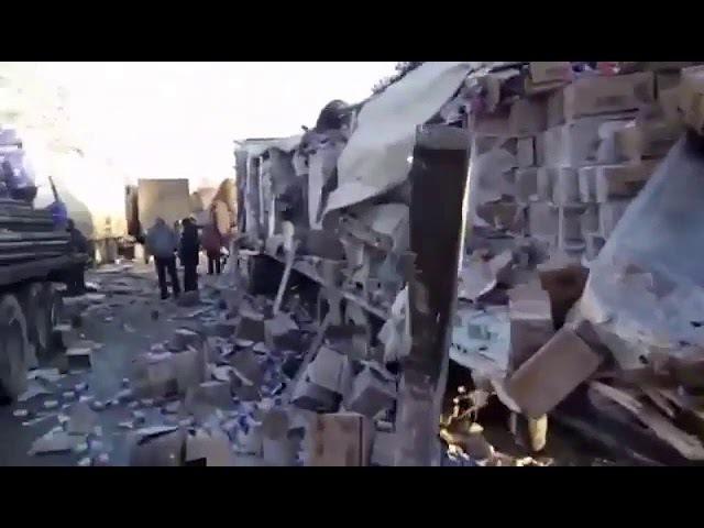 Авария на трассе Челябинск Фуры в хлам