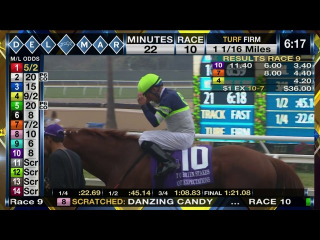 Giant Expectations wins Pat O'Brien Stakes (Grade II) Race 9 at Del Mar 08/26/17