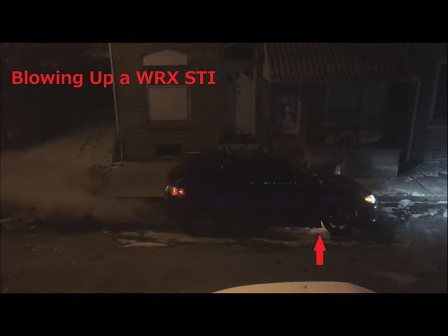 Idiot Blows Up His New WRX STI