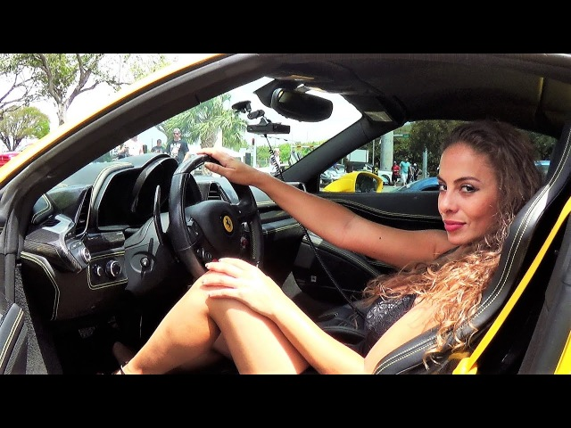Hot Girl Hot cars Fast Life Rally Supercar Meet Lamborghini McLaren Porsche More