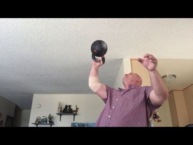 32 КГ дном вверх 70 Lb Kettlebell Bottom Up Press