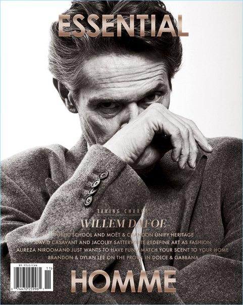 Уиллем Дефо стал героем свежего выпуска издания Essential Homme / 2018