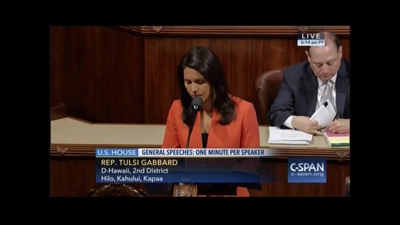 Tulsi Gabbard Introduces Bill to Stop Arming Terrorists- 12-8-16
