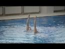 Синхронное плавание. Тренировка