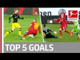 Чемпионат Германии 2017-18 / Лучшие голы 28-го тура / Топ-5 [HD 720p]