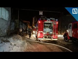 Пожар на заводе в Екатеринбурге