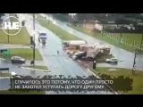В Бразилии большегруз въехал в пассажирский автобус