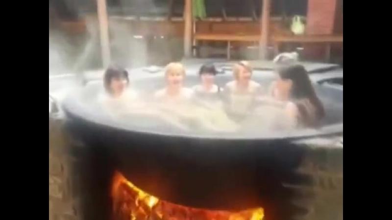 Баня в чане или купание в закарпатской бане