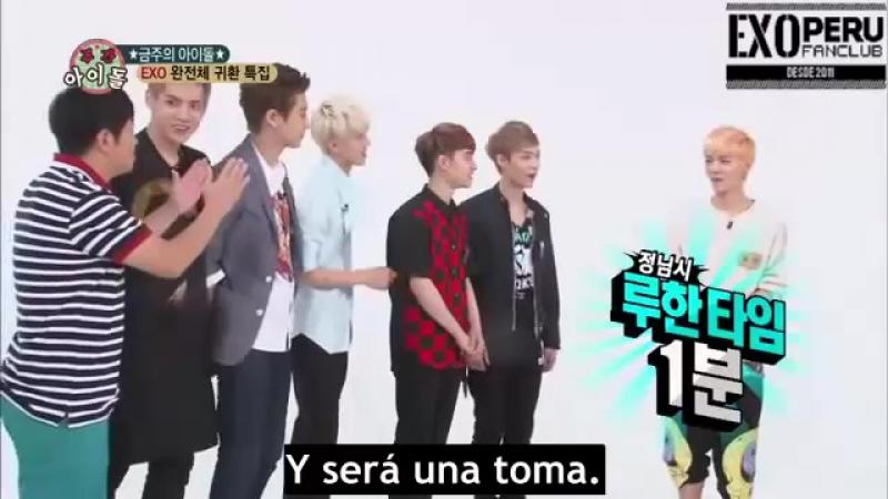 [SUB ESP] Corte de EXO Weekly Idol. Pobre, lindo y divertido Luhan