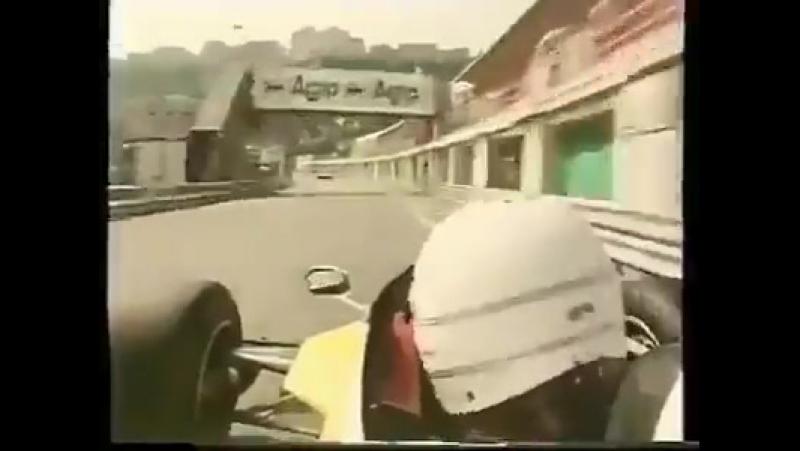 RenéArnoux blasting it round MonacoGP
