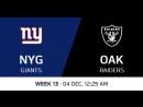 NFL 2017 / W13 / New York Giants - Oakland Raiders / CG / EN