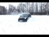 "Subaru Tribeca ""B9-gemote"" on snow"