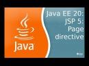 Javav EE 20: JSP 5: Page directive