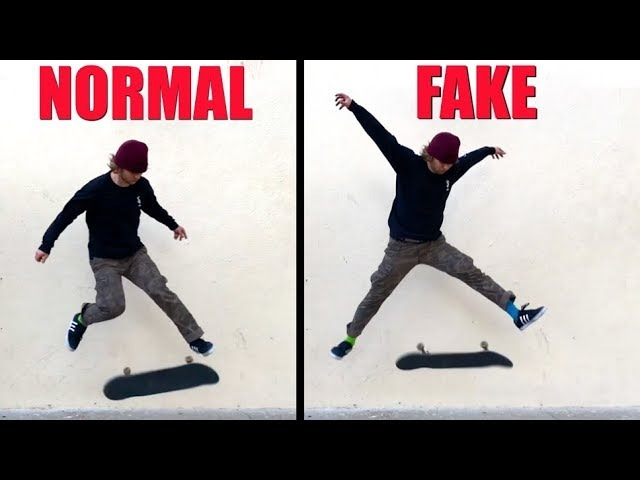 Top 10 Most Exaggerated Skate Tricks!