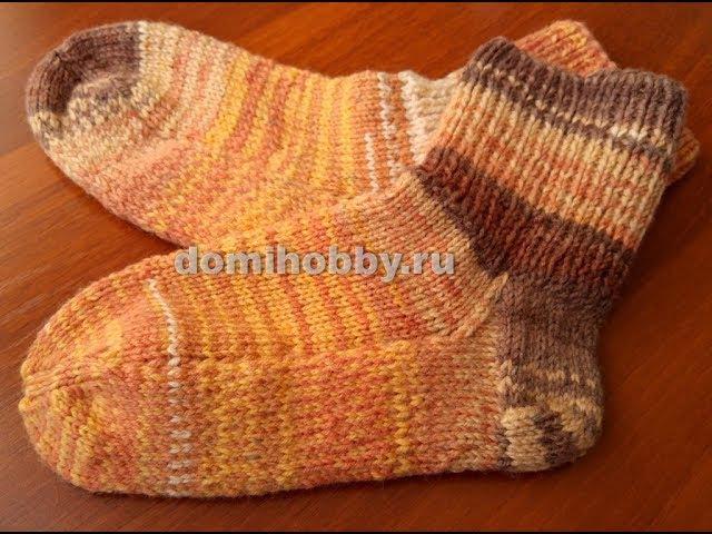вязание носков с укрепленной пяткой и подошвой