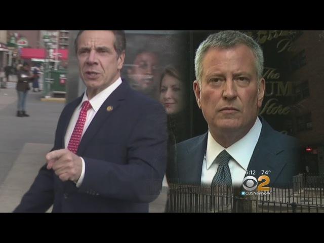 Cuomo De Blasio Trade Barbs In Subway Blame Game