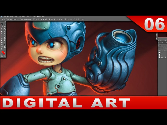 Painting Megaman in Photoshop [With comments] Digital Art ロックマン