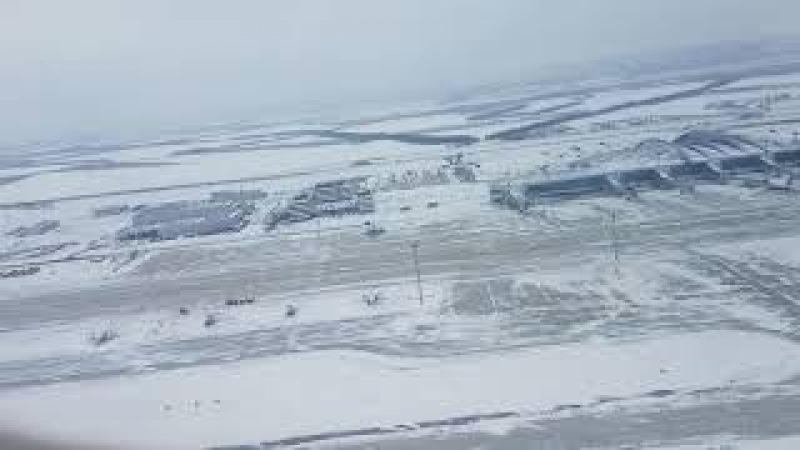 Взлет из аэропорта Платов (Platov) Ростов-на-Дону на CRJ-200LR бортовой номер VQ-BPA