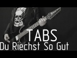 Rammstein Du Riechst So Gut live instrumental cover (tabs, backing track and lyrics)