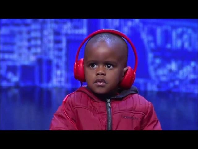 3 YEAR OLD DJ PLAYS MANS NOT HOT ON SOUTH AFRICA'S GOT TALENT (GOLDEN BUZZER)