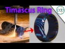 Making a Timascus Ring and Flame Anodizing it! - Damascus Steel made out of Titanium