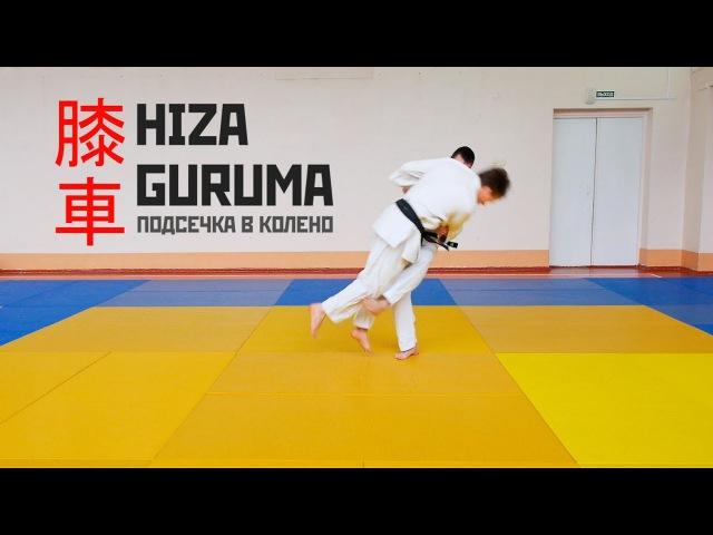 HIZA GURUMA / Подсечка в колено под отставленную ногу / 膝車