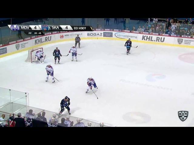 Моменты из матчей КХЛ сезона 16/17 • Гол. 5:4. Горан Безина (Медвешчак) принёс хозяевам 2 очка 02.10
