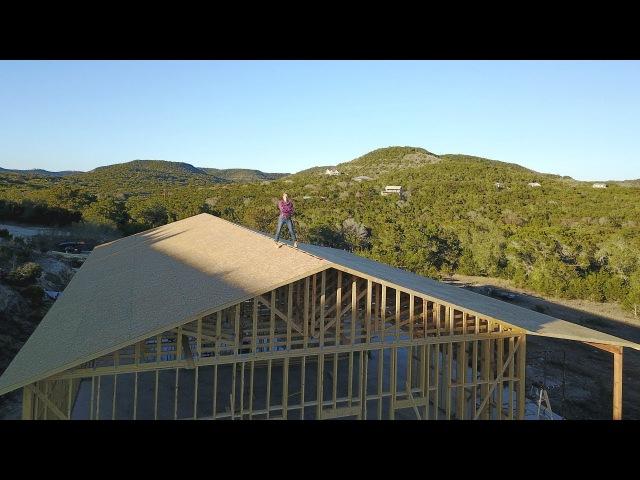 Building A Shop - Trusses and Patio