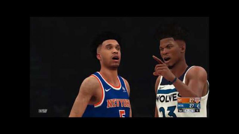 Прохождения NBA 2K18,43 серия Minnesota Timberwolves против команды New York Knicks