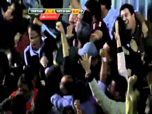 Gol de Paulinho narrado por Everaldo Marques - Corinthians 1x0 Vasco - Libertadores 2012