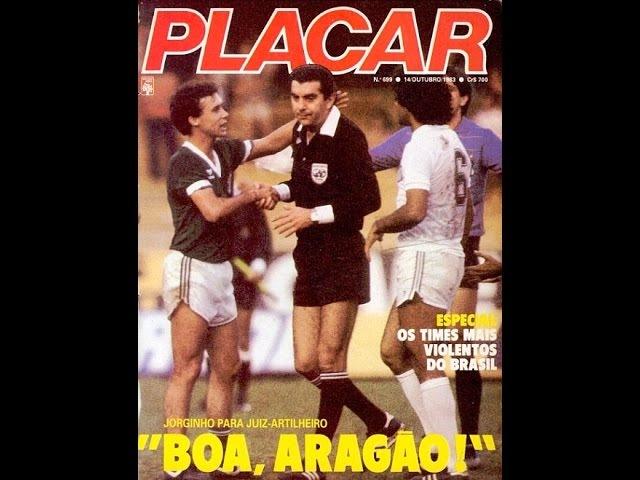 OSMAR SANTOS Palmeiras 2 x 2 Santos 1983 Gol do Juiz (José Assis de Aragão)