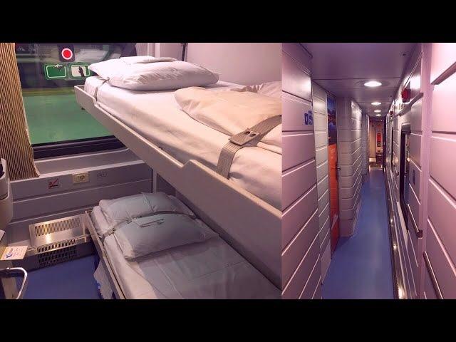 Inside EuroNight Train Strizh Moscow - Berlin поезд Стриж Москва - Берлин в Вагон СВ