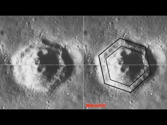 Objev tajemného šestiúhelníkový kráter fotografoval na měsíci lunární Orbiter sonda