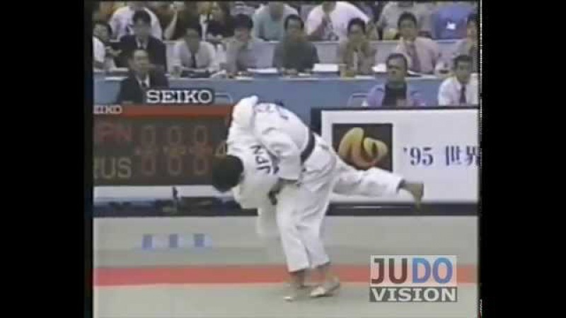 JUDO 1995 World Championships: Toshihiko Koga 古賀 稔彦 (JPN) - Konstantin Savchishkin (RUS)