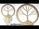 DIY Vintage tree Dream Catcher room decoration ideas Jute Craft easy craft